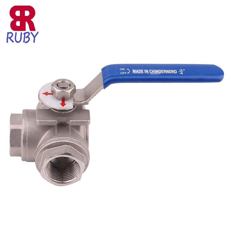 2 INCH Sanitary Stainless Heavy Duty 304 Three Way Ball Valve