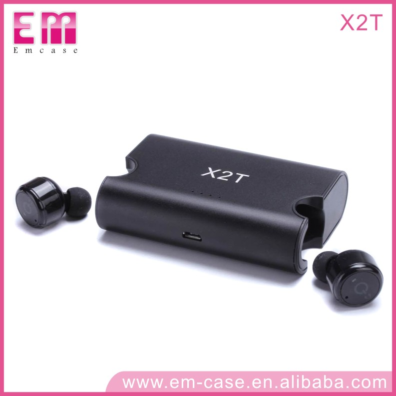 X2T stereo bluetooth headset in ear headphones wireless earbuds