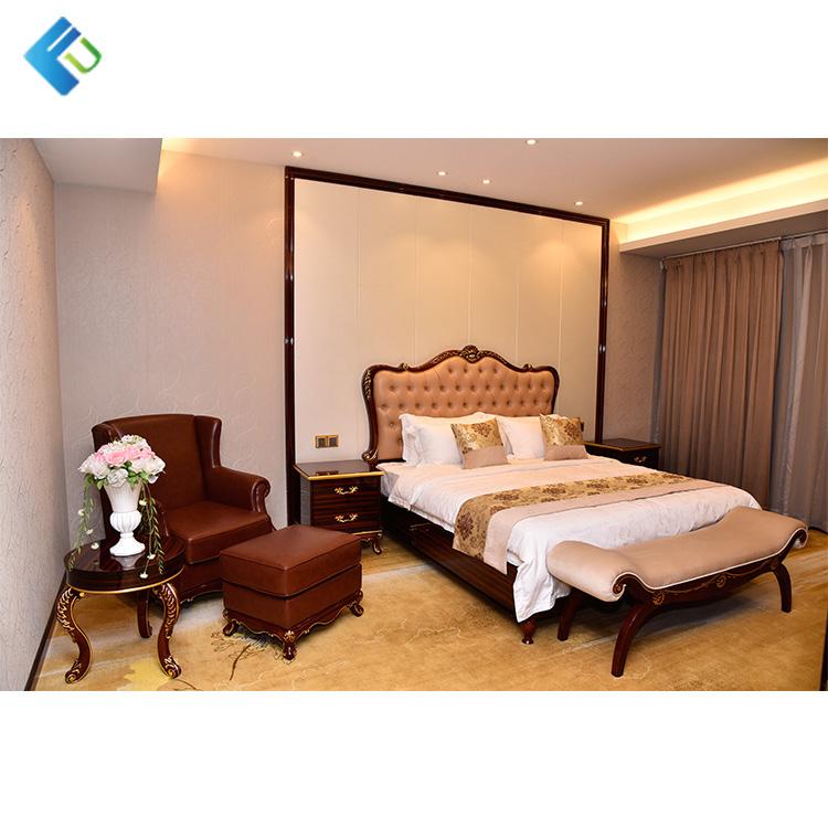 Hotel Antique Oak Reproduction Bedroom Furniture Art Deco Set