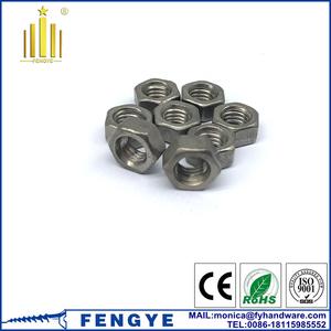 Hex titanium nut weight