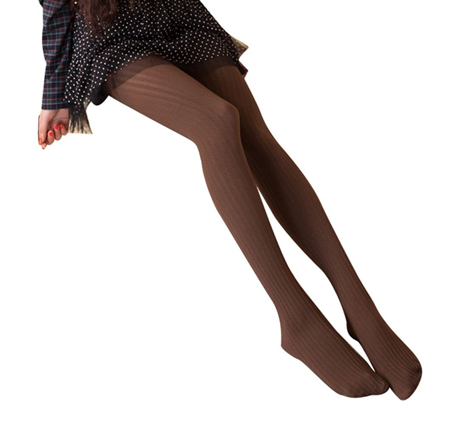 430f092ae69 Get Quotations · AM CLOTHES Womens Sexy Slim Stripe Stretch Tight Stockings  Pantyhose