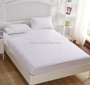 White hotel/home ultrasonic waterproof bedcover mattress protector