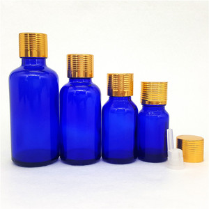 5ml 10ml 30ml 50ml 100ml Cobalt blue Glass Essential Oil Bottle with Euro Dropper