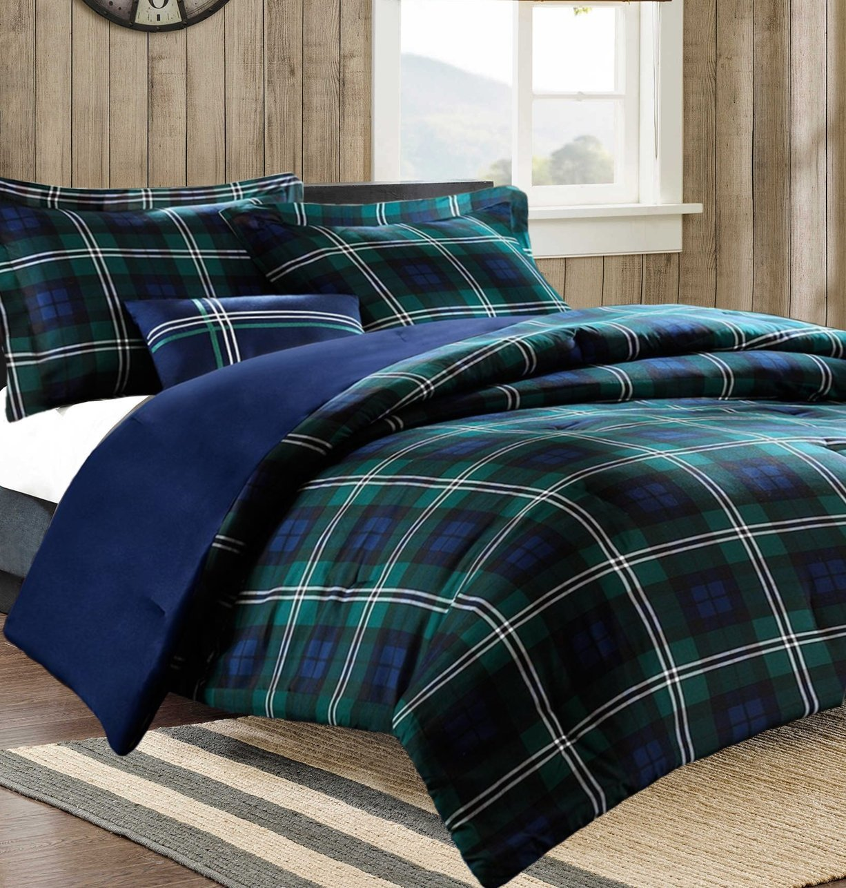 decoration gold comforter red tartan covers king bedding inspired cover bedroom set tog sets queen bedspread plaid green duvet