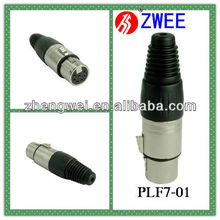 7-pin female XLR microphone cable plug