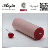 wholesale high quality cheap red pillar candles 3x6