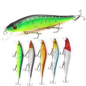YOUME 14 cm 23g Fishing Lure Minnow Hard Bait with 3 Fishing Hooks 3D Eyes Fishing Tackle Lure Floating Hard Lure
