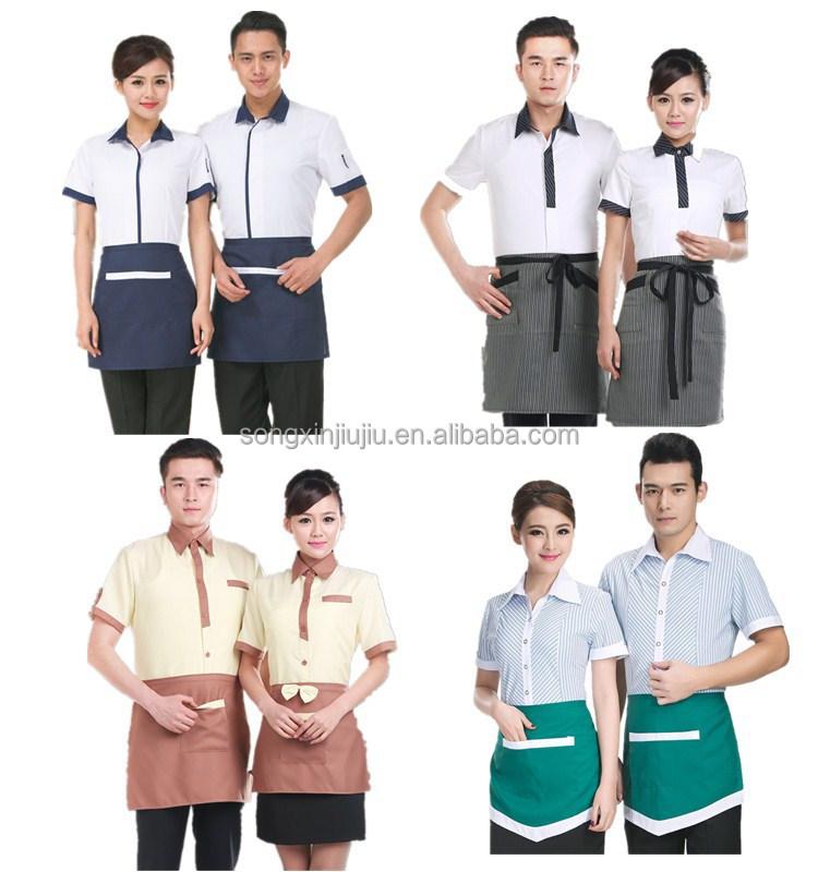 High quality wait staff uniforms restaurant clothing for Restaurant uniform shirts wholesale