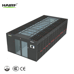 Integrated data center with power solution, cooling, fire suppression, monitoring etc