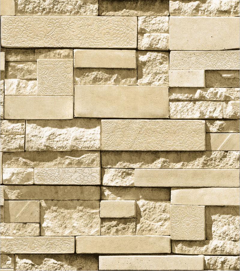 moderne pierre papier peint rouleau tan multi 3d brique r aliste papier chambre d coration. Black Bedroom Furniture Sets. Home Design Ideas