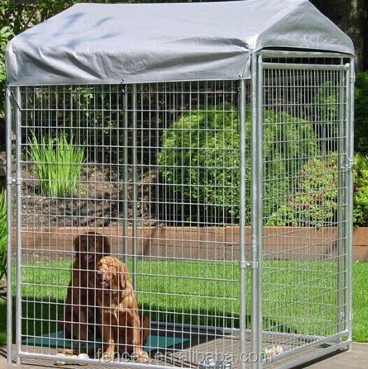 Utilisé clôtures pour chien jardin clôture de fer chien cage/chaîne ...