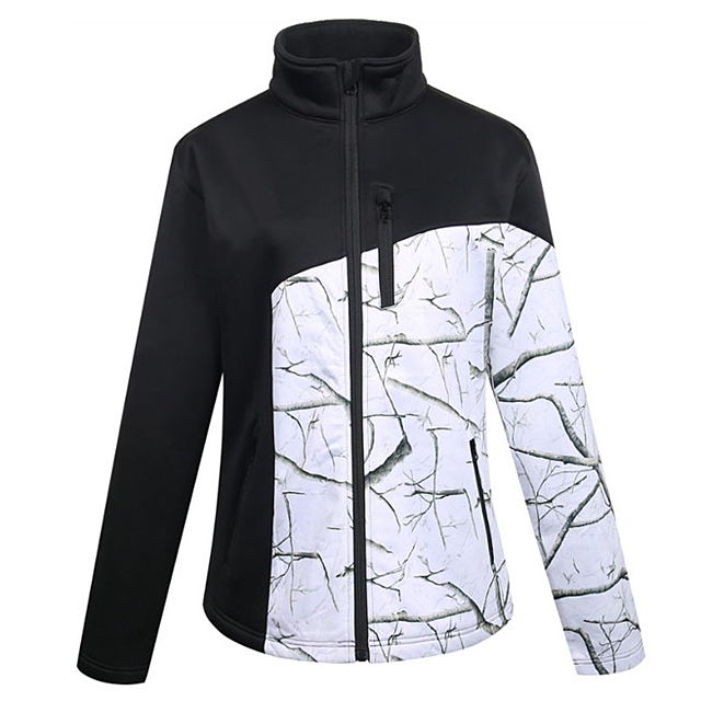 2019 Hot Sale Fashion Contrast Snow camouflage Softshell Jacket