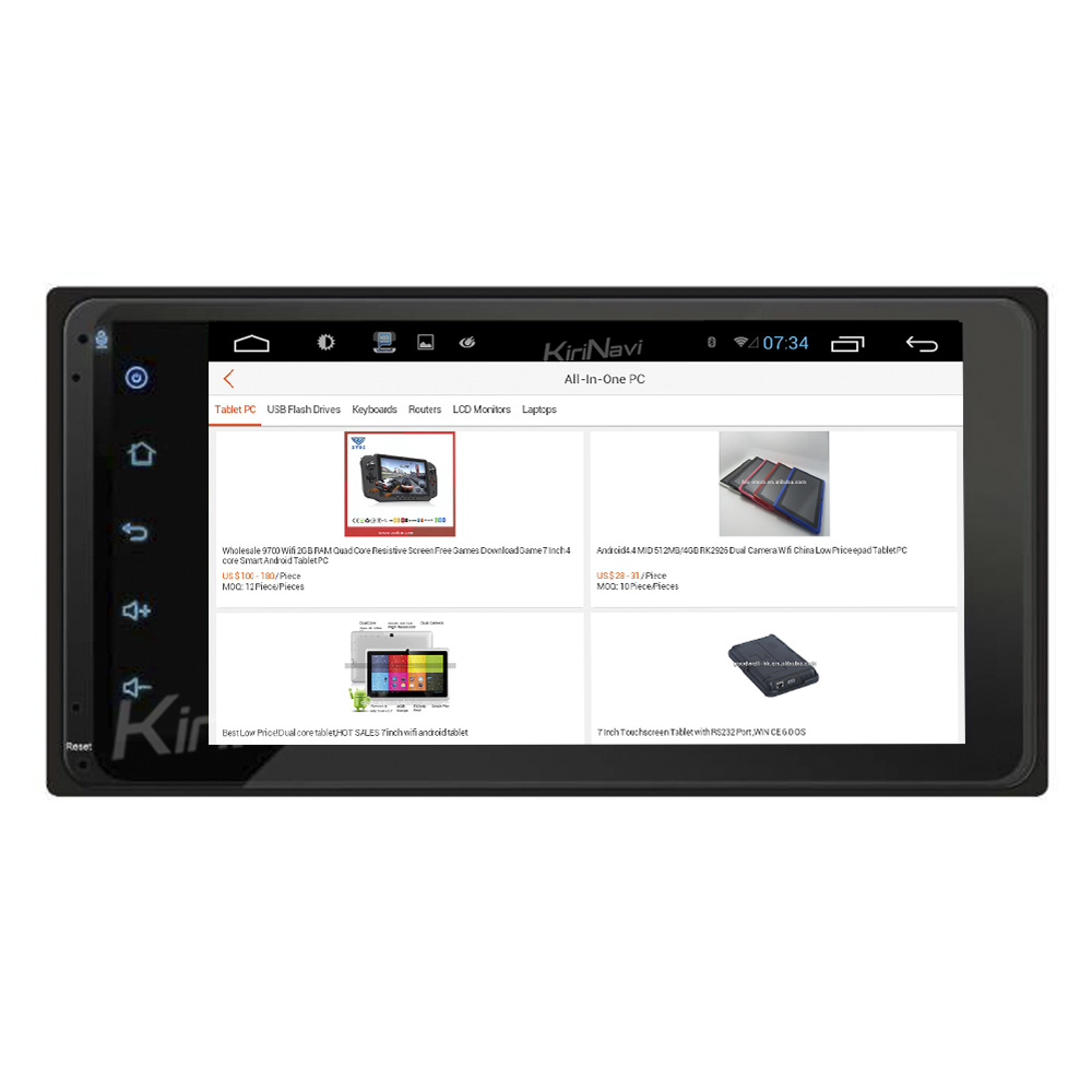 "KiriNavi WC-TU7001 7"" android 6.0 multimedia system for <strong>toyota</strong> universal car dvd player RAV4 corolla hilux <strong>prado</strong>"
