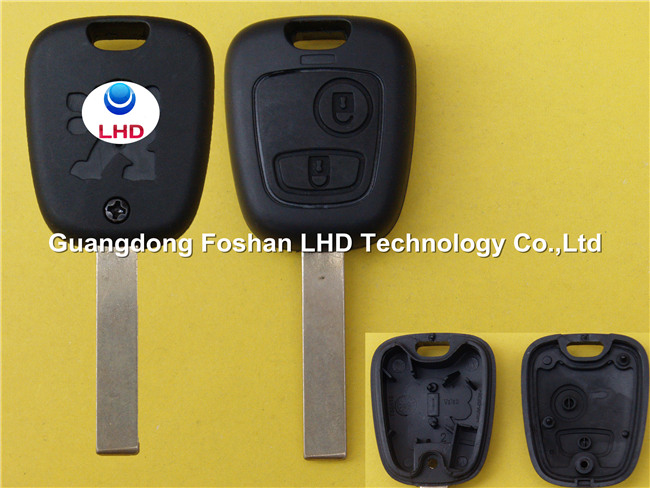 Wholesale price blank key for Peugeot 407 replacement 2 buttons remote car key shell blank