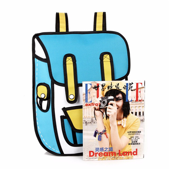 Osgoodway 2020 Japan Style 2D Drawing Cartoon Paper Bag Fashion School Bags Children Backpack for College Outdoor