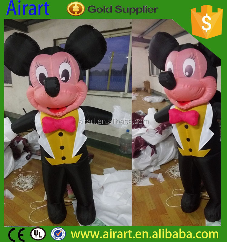 Giant Cartoon Inflatable Toy Mickey Mouse Character For Promotion