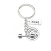 Fashion tag charms xoxo message keyring fitness barbell gym dumbbell keychain
