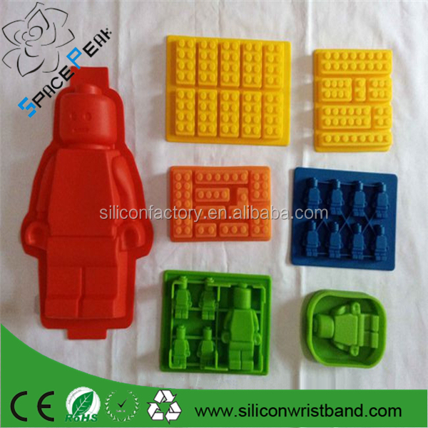 100% Fda Cheap Silicone 3d Lego 8 Pcs Sets Silicone Lego Brick ...