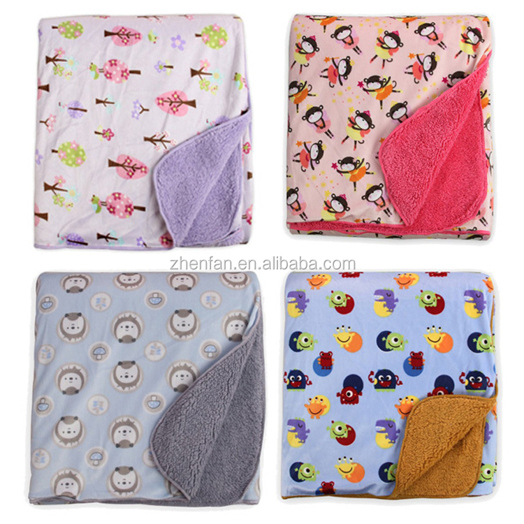 super soft flannel fleece baby printed blanket