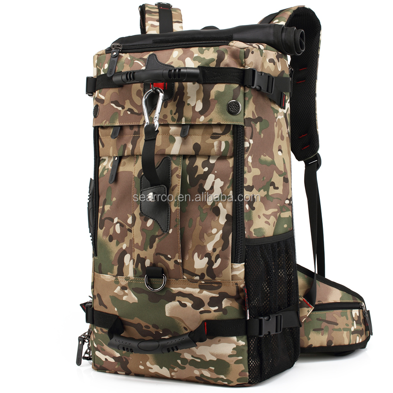 2017 Fashon designer Waterroof military backpack nylon camouflage backpack