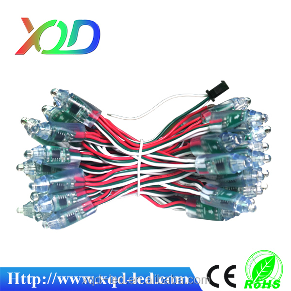 12mm WS2811 as WS2801 led pixel module,IP65 waterproof DC5V full color RGB string christmas LED light Addressable