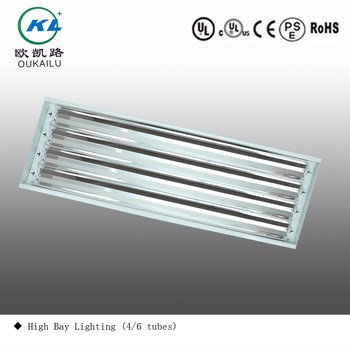 4 fluorescent luminaire led high bay lighting fixture 4 tubes 1200mm high