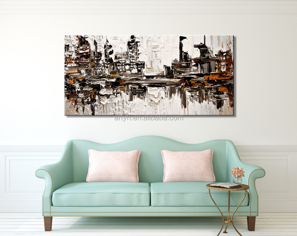 China factory fashion abstract wall art house painting for decor in discount price