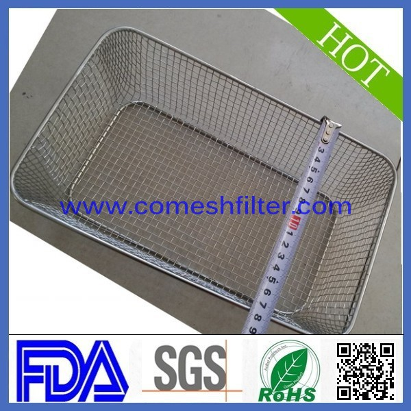 Rectangle Stainless steel fruit wire mesh basket(10 years professional experience)