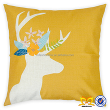 Rustic Deer Decor Pillow Cover Linen Cushion Cover Wholesale Decorative Pillow Covers