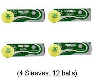 0eea248f899 Get Quotations · Viking Low Bounce Platform Tennis Balls Yellow (4 Sleeves)