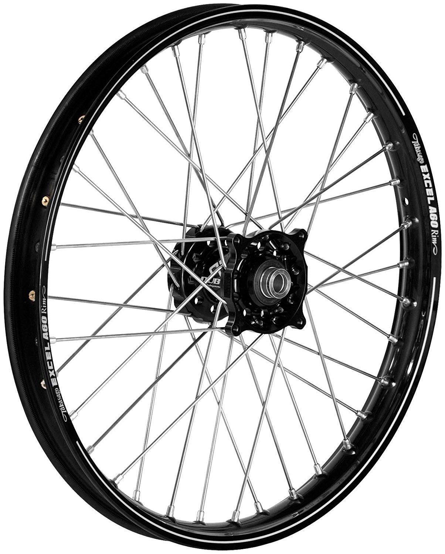 QTM/Brembo Offroad/ATV Complete Rear Wheel - Black Talon Hub/Gold Excel Takasago Rim - 2.15x18 , Position: Rear, Color: Black, Rim Size: 18 56-3066GB
