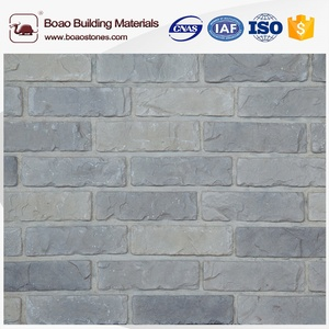 Cut to size stone form thin white faux bricks for wall covering
