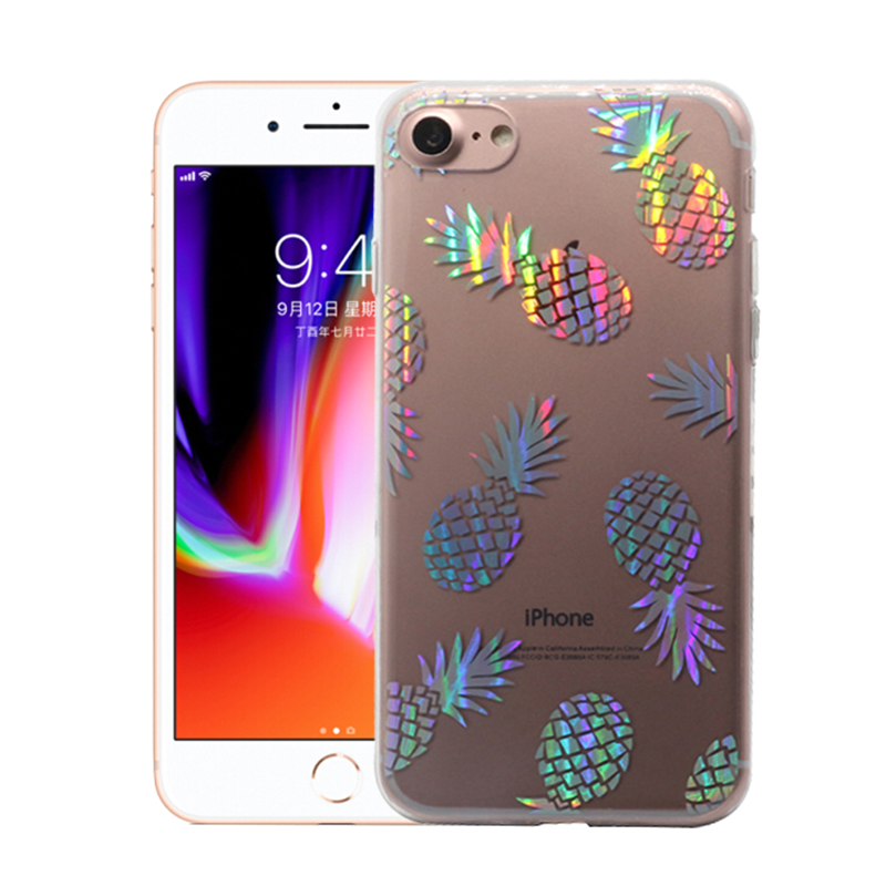 Hot sale colorful laser marble phone case cover TPU phone accessories soft IMD case for iPhone 8