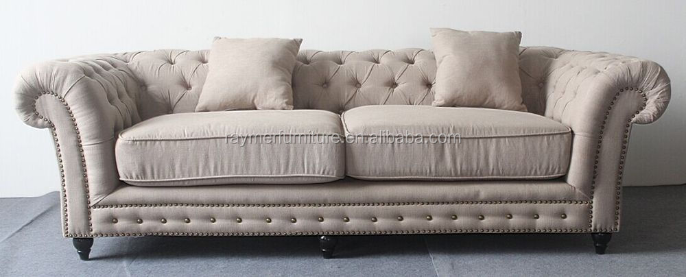 Upholstered Fabric Sofa Set Chesterfield Tufted Sets