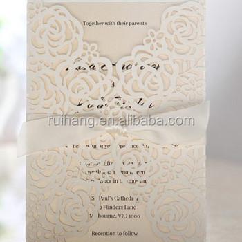 Victorian Lace Laser Cut Wrap Wedding Invitation Sample Buy