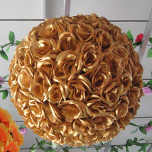 Elegant satin flower ball for wedding party home decoration