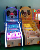 coin operated panda basketball machine children basketball hoops game for sale