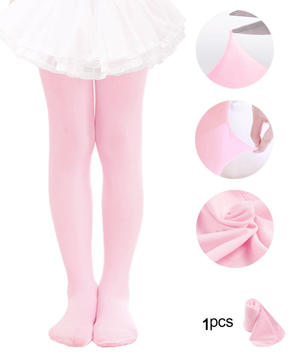 8ed40f5146061 Get Quotations · Ballet Tights For Girls Toddler Tights Dance Leggings  Pants Footed Kids