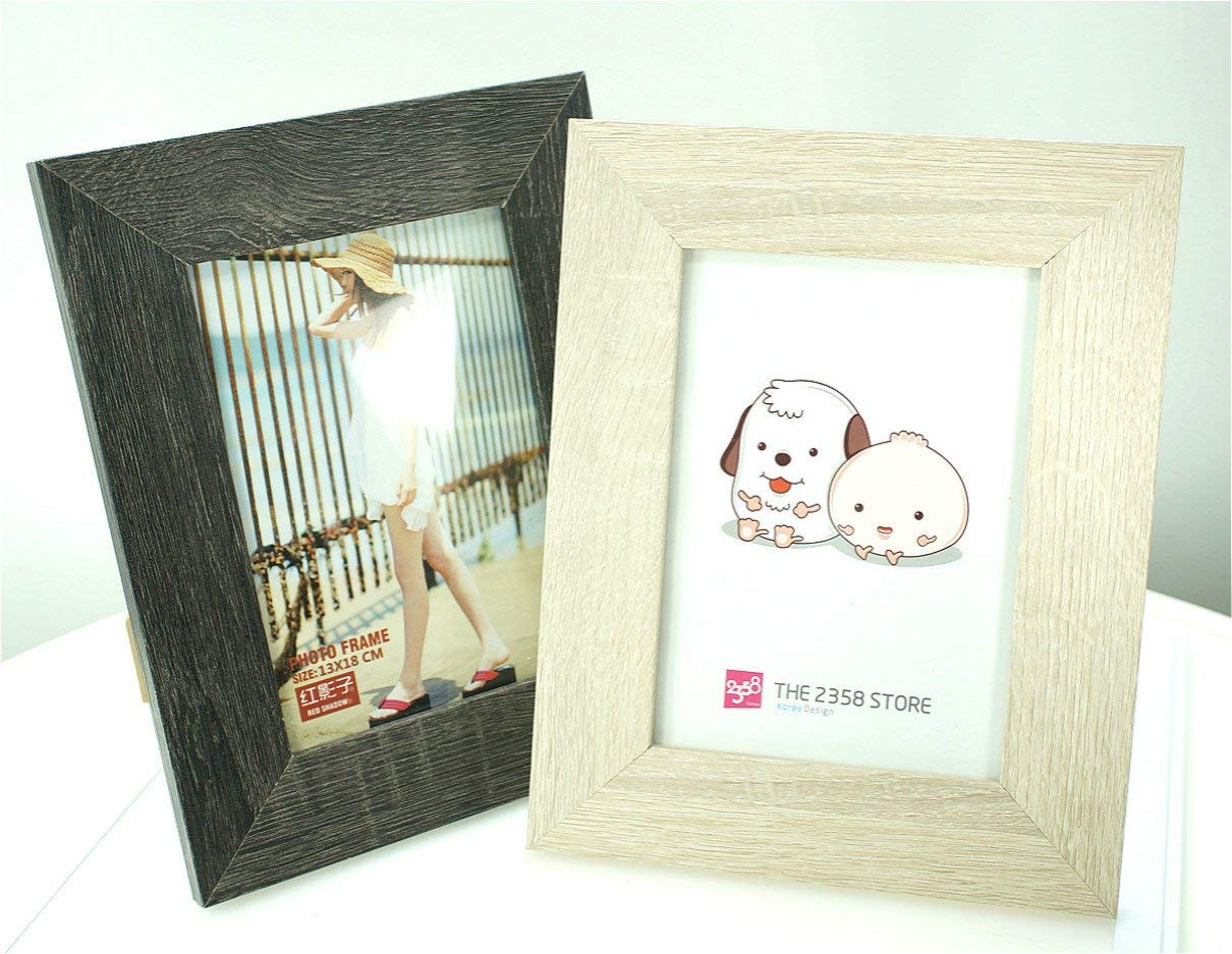 Picture Frames Set Wooden for Home Decoration Pack of 2: 5x7 inches (2 pcs black and white)