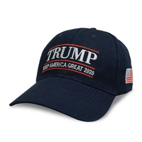 Cheap Price Custom Cap Red Black Navy Blue Color Trump 2020 Cap Cotton Sport Cap Embroidery Trump 2020