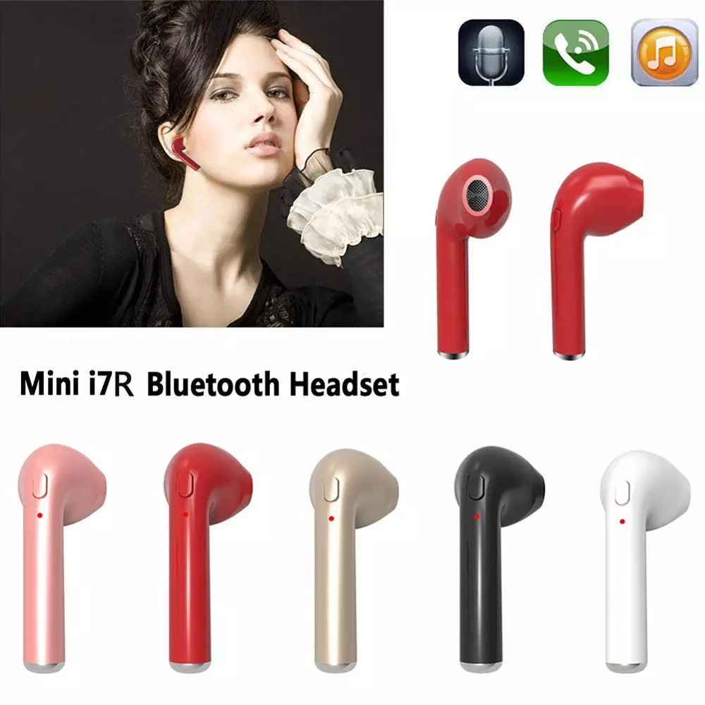 TWS i7mini cordless small bluetooths headset best quality wireless earbuds bluetooths headset for iphone and android
