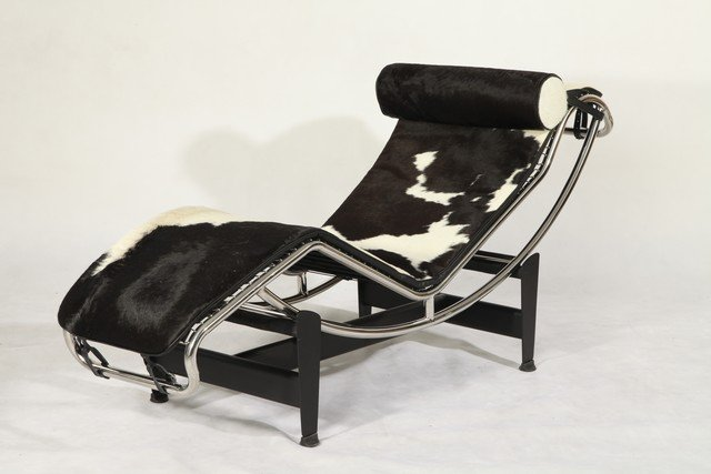 le corbusier lc4 leather chaise longue pony leather in chaise lounge from furniture on. Black Bedroom Furniture Sets. Home Design Ideas