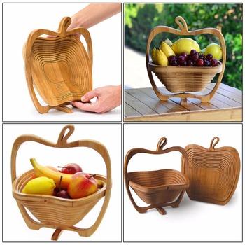 2018 Wholesale Bamboo Folding Fruit Basket Apple Shape Wooden Bowl Buy Wooden Bowlapple Shape Wooden Bowlfolding Fruit Basket Product On