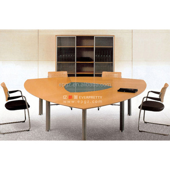 china office furniture steel frame triangle meeting table for