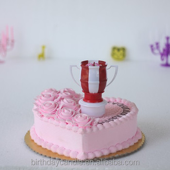 Trophy Shaped Musical Birthday Candles A88012 CE Rotate Style