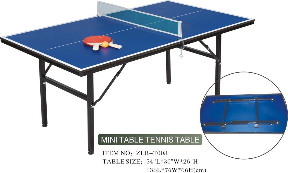 household medium density mdf board mini table tennis table for