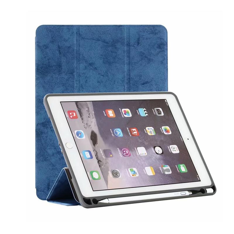 lightweight flip case by Chonghing thin Apple iPad 9.7 stylish Light Blue