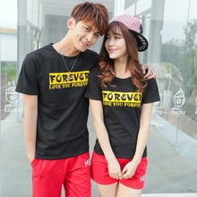 Forever family korean couple shirts and pants for beach for lovers love matching couple clothes couples