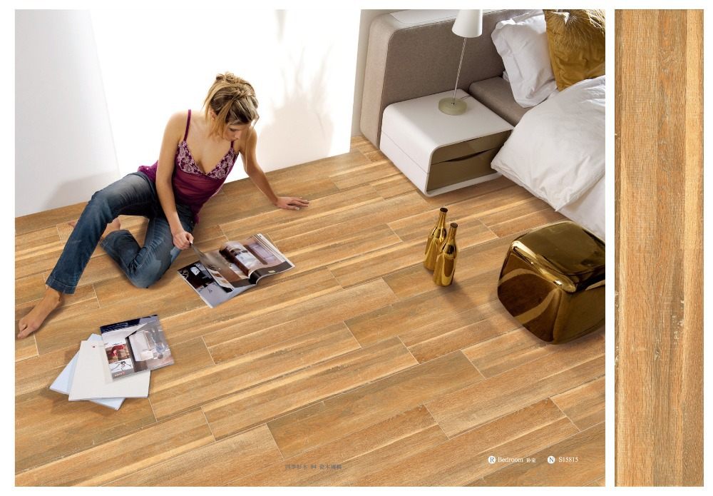 Wholesale cheap wood look ceramic tile2015 top 10 floor wood