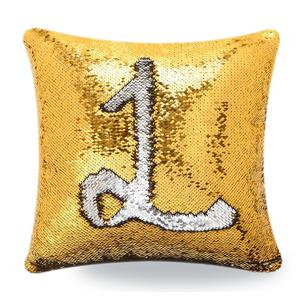 Decorative Christmas Sofa Pillow Case Square Paillette Throw Mermaid Sequin Cushion